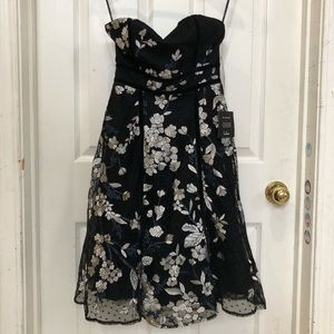 Lulus Strapless Lace Embroidered Dress
